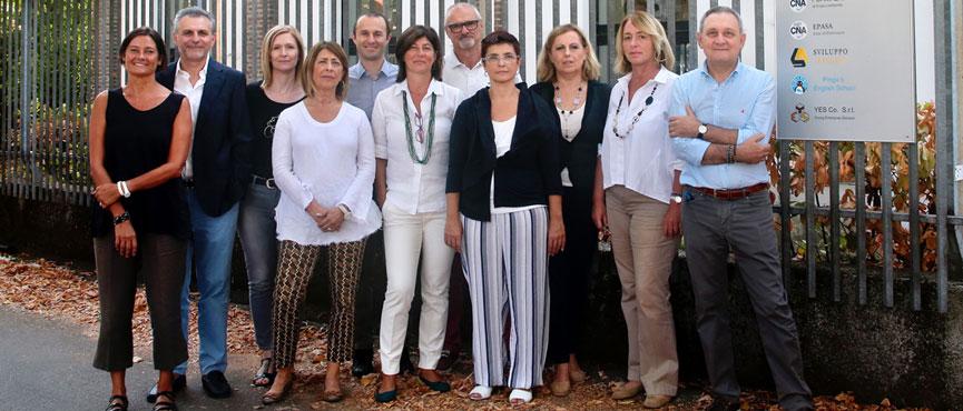Il personale di CNA Pavia